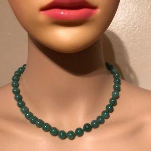 Vintage jade and 14K gold  necklace